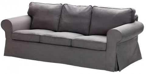IKEA_EKTORP - ספה תלת מושבית עם ריפוד Svanby אפור. מחיר קודם 2895 שקלים ...