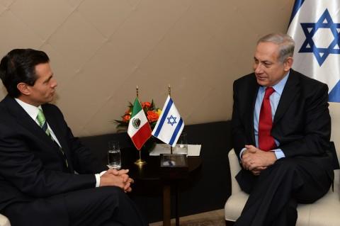 נתניהו ונשיא מקסיקו